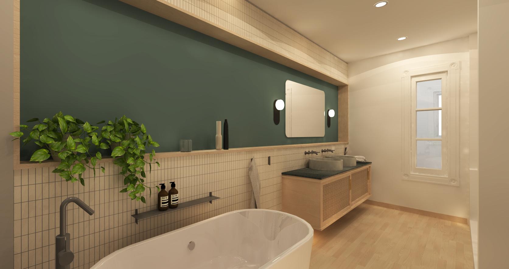 Salle de bain principale - Rendu photoréaliste