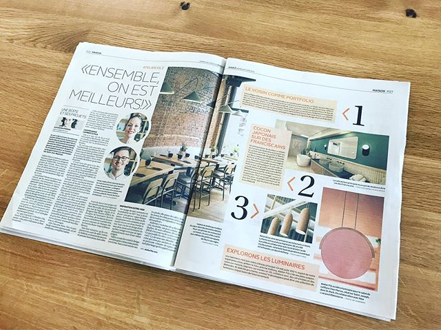 Quelle belle nouvelle ce matin dans @lesoleildequebec 🤩 Merci à Alexandra pour ce beau travail! On est vraiment fiers ☺️ #lesoleildequébec #atelierfilz #interiordesign #lightingdesign #villedequebec