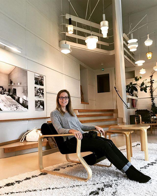 2017- Bureau d'Alvar Aalto à Helsinki 👀  Précieux moment 😊  #alvaraalto #respect #regionalism #modernist #helsinki #atelierfilz
