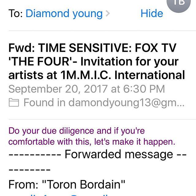 Been got offer be on Four @djkhaled @diddy TV