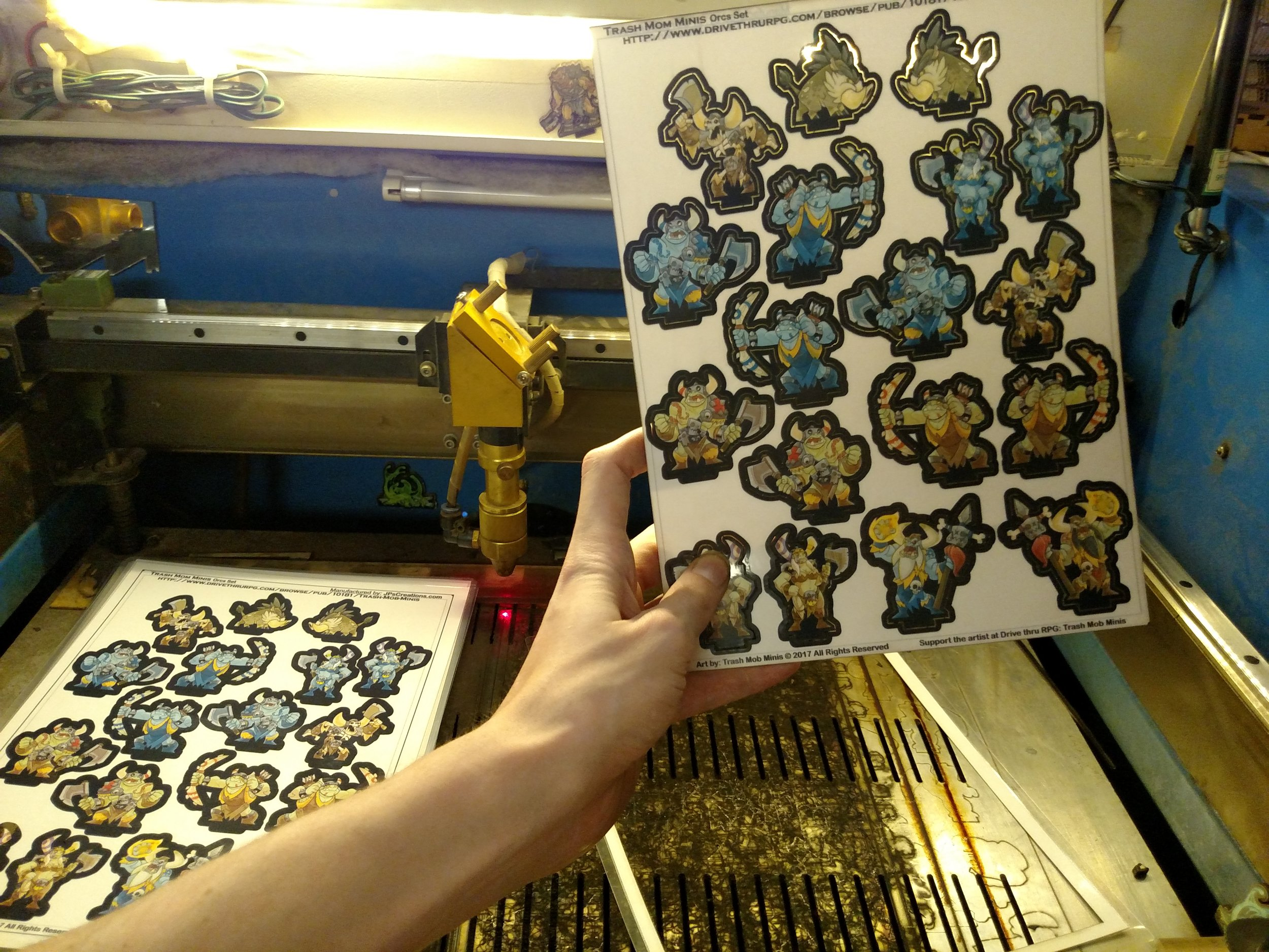 Then it's too the laser cutter