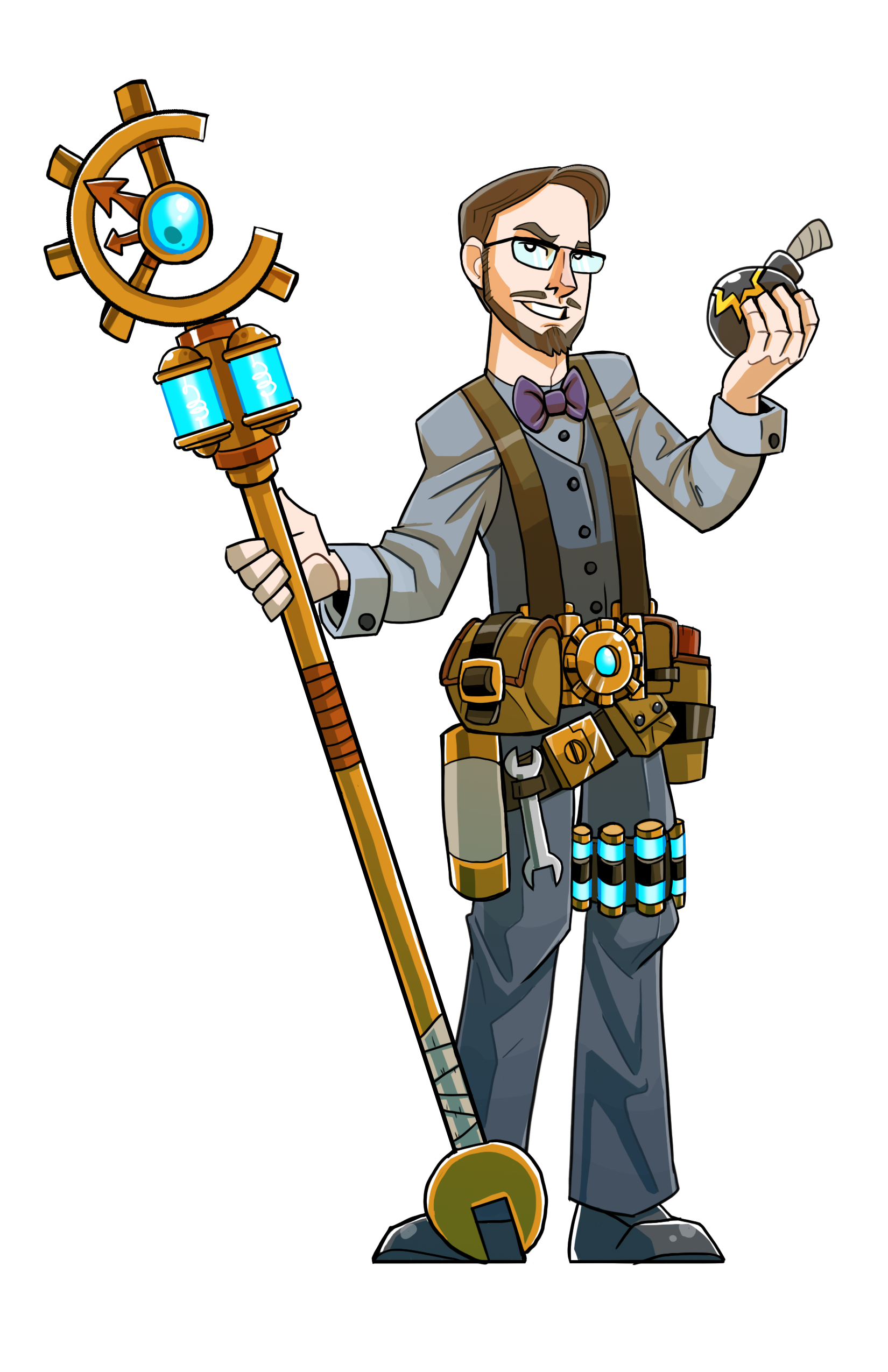 John Puh - The Craft Master - This is John Puh, the 5e Version of me, he is included on my business card and sent with each order.Grab John Puh's Character sheet here to add him into any of your games!He was Illustrated as a custom commission by the artist of TrashMobMinis and you can follow them on twitter @TrashMobMinisBig thanks to MorePurpleMoreBetter (@BetterOfPurple on twitter,) for allowing me to share John's character sheet with anyone who wants to include him in their game. If you like the character sheet and want to get your own and get updates on it, please support the designer at https://www.patreon.com/morepurplemorebetter