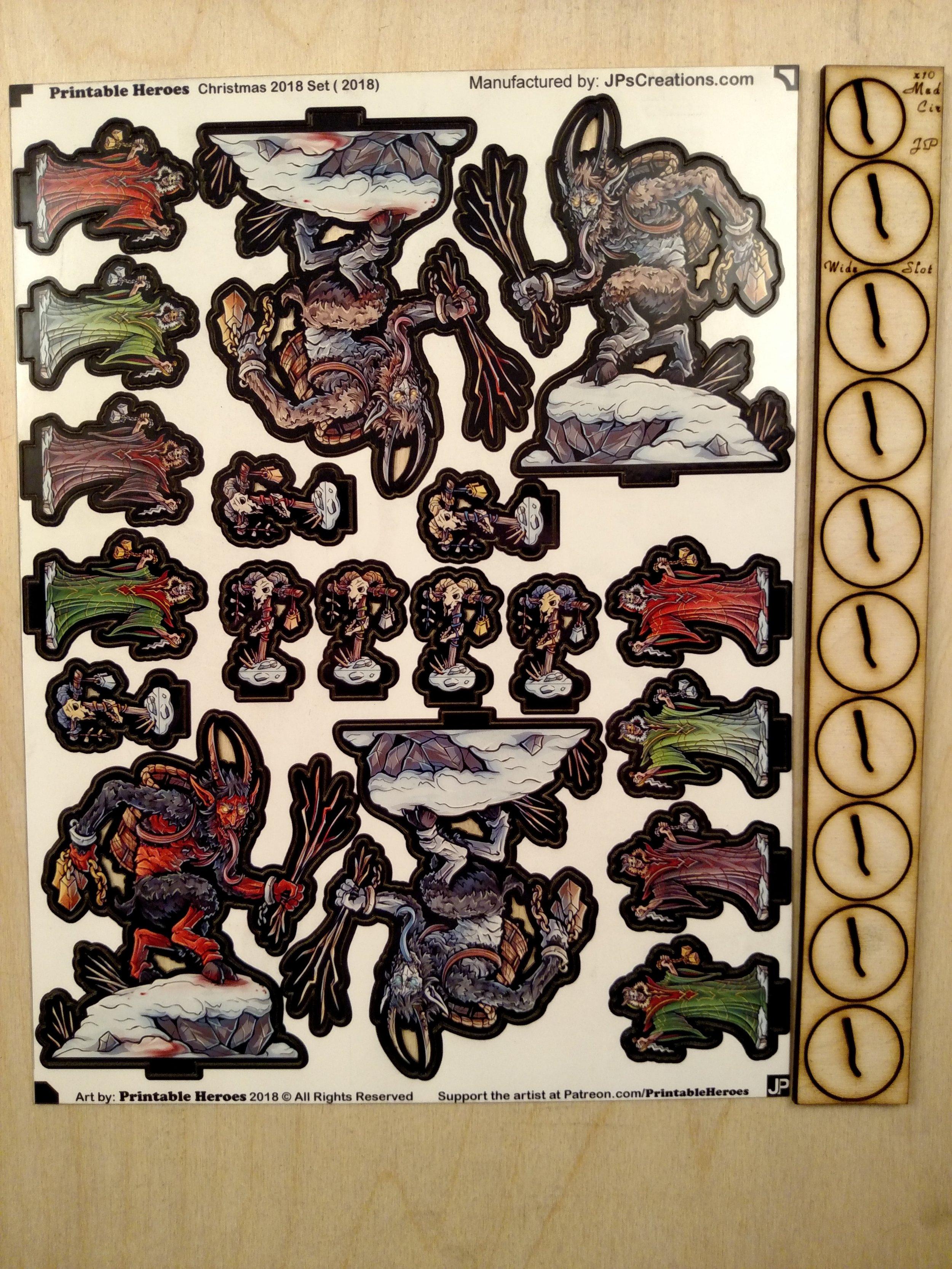 image regarding Printable Heroes Patreon named Krampus Mounted by means of Printable Heroes JPs Creations