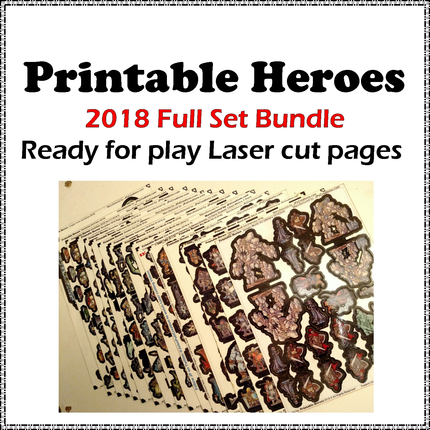 photograph relating to Printable Heroes identify Printable Heroes Sets JPs Creations