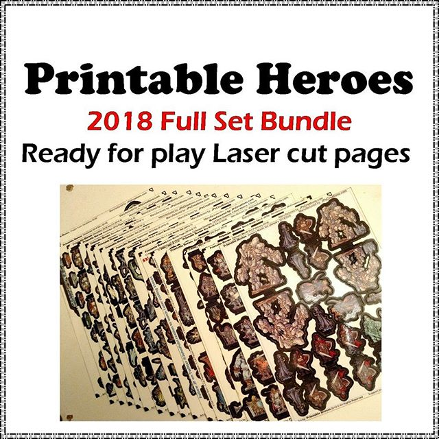 I did some work making a sorted page for Printable Heroes Sets since there are quite a lot on JP's Creations: https://buff.ly/31BUicQ⠀ ⠀ Also I've added a bunch of new @PrintableHeroes sets including the 2018 Full Set Bundle that's always at a discount!