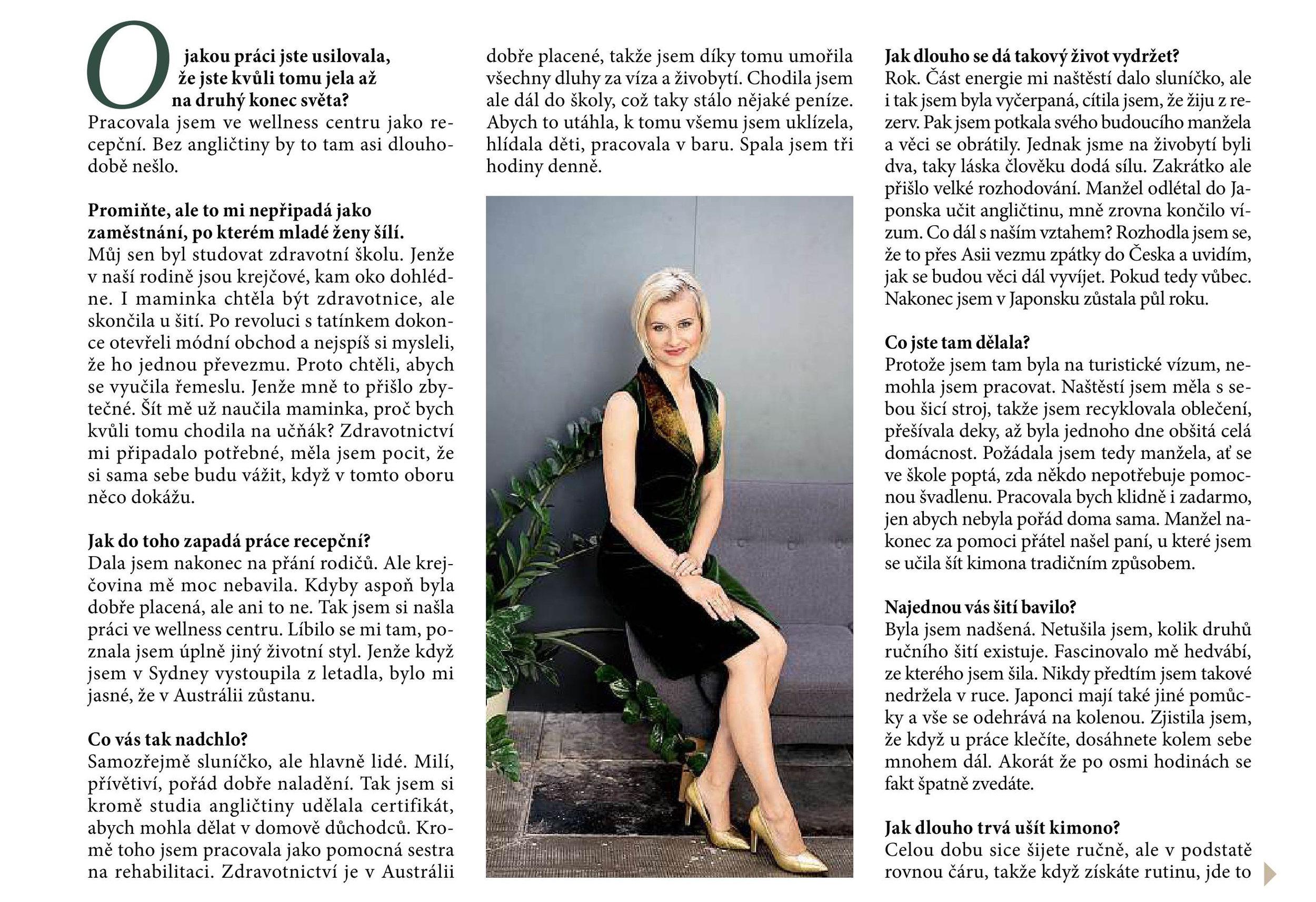Iva Pfeiffer Ona Dnes Magazine Article.jpg
