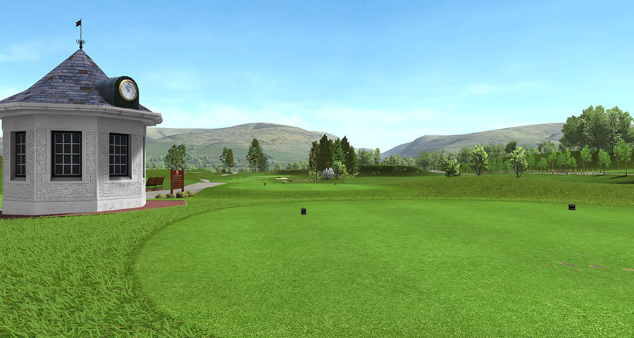 PGA Centenary at Gleneagles hole 1