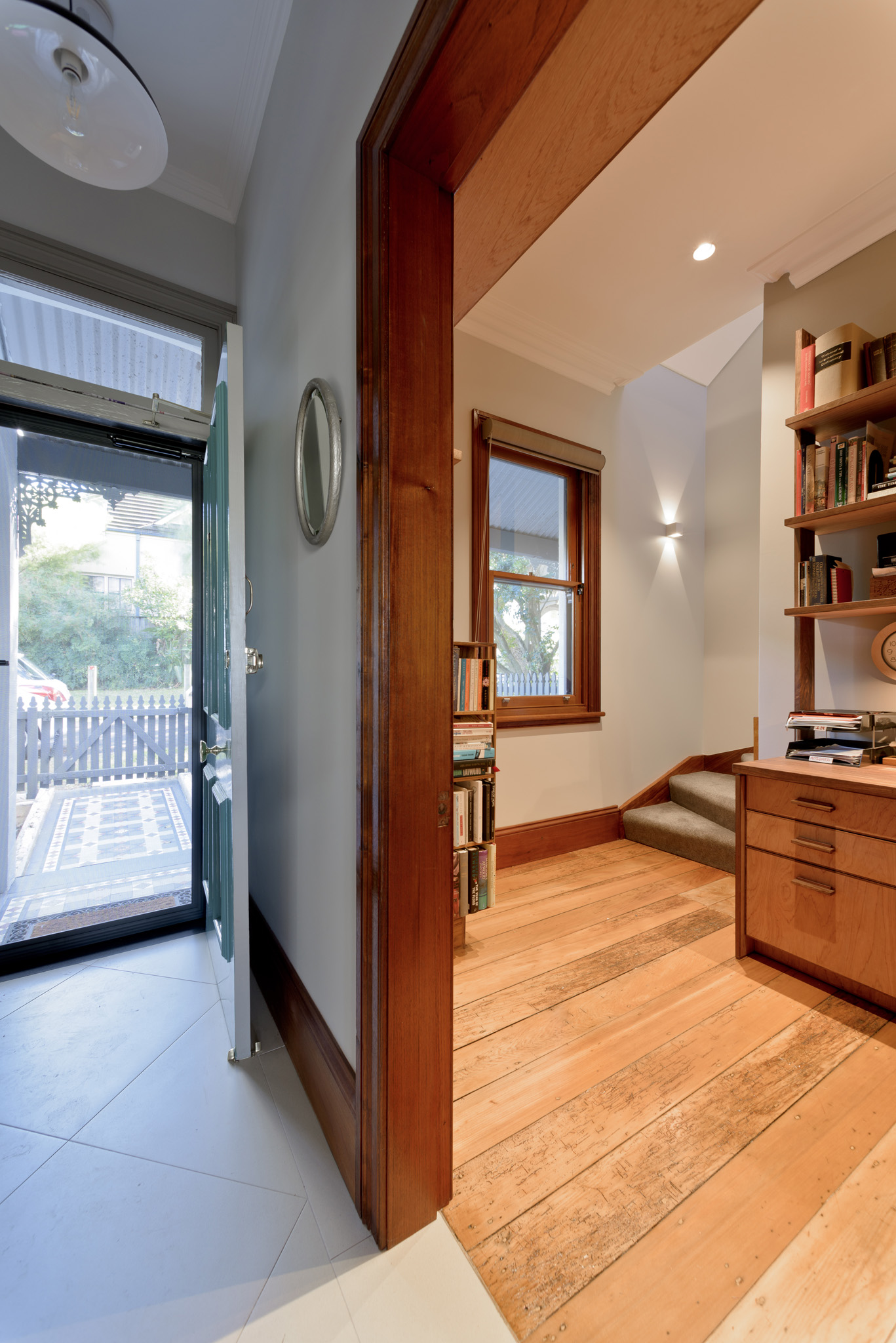 7 - 98 – Lilyfield Black Bean- Traditional NG Rosewood moldings & restored Kauri floorboards with Black Bean feature joinery.jpg