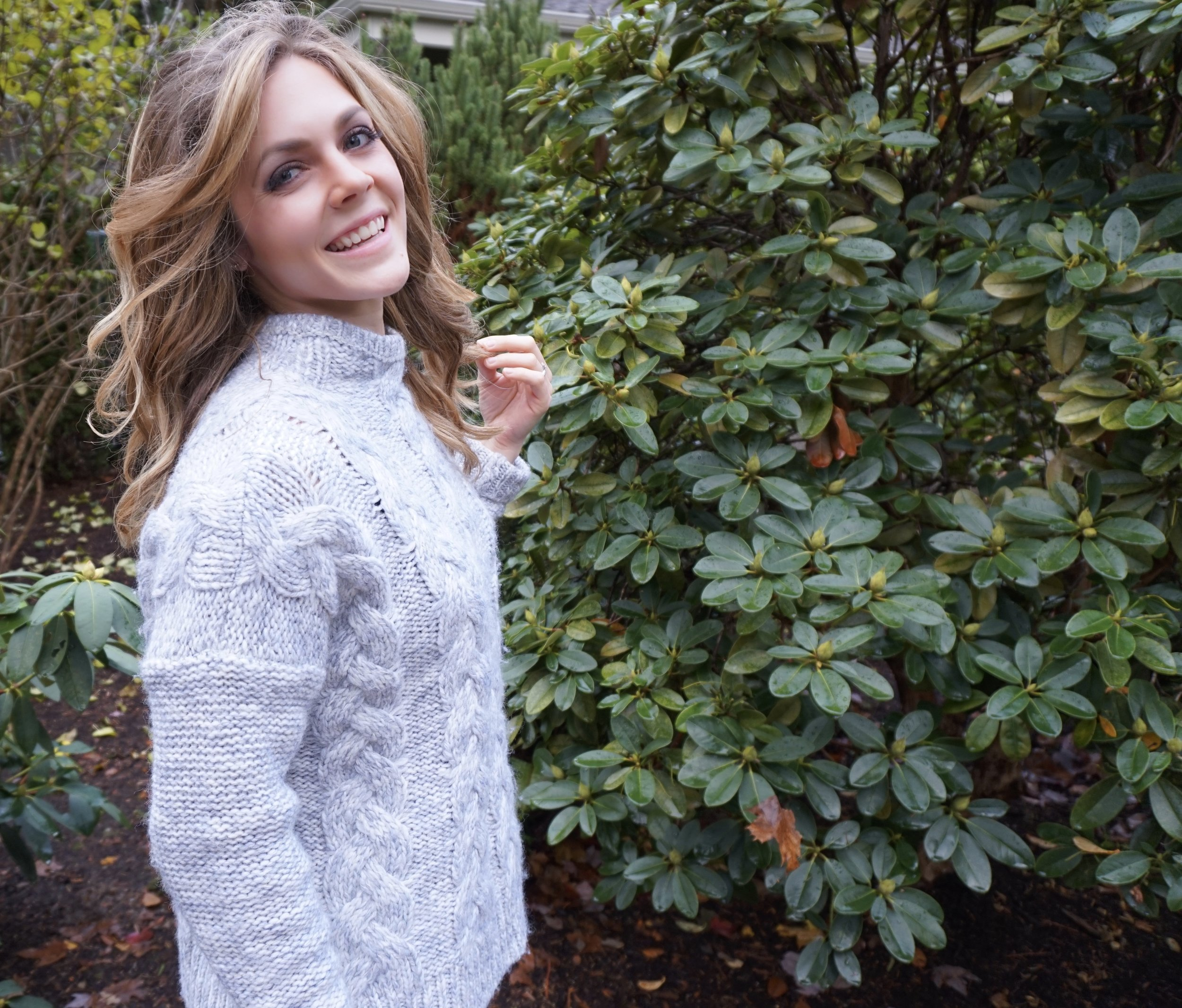 Chunky knit sweater //Madewell. Purchased on sale in February. Similar  here .
