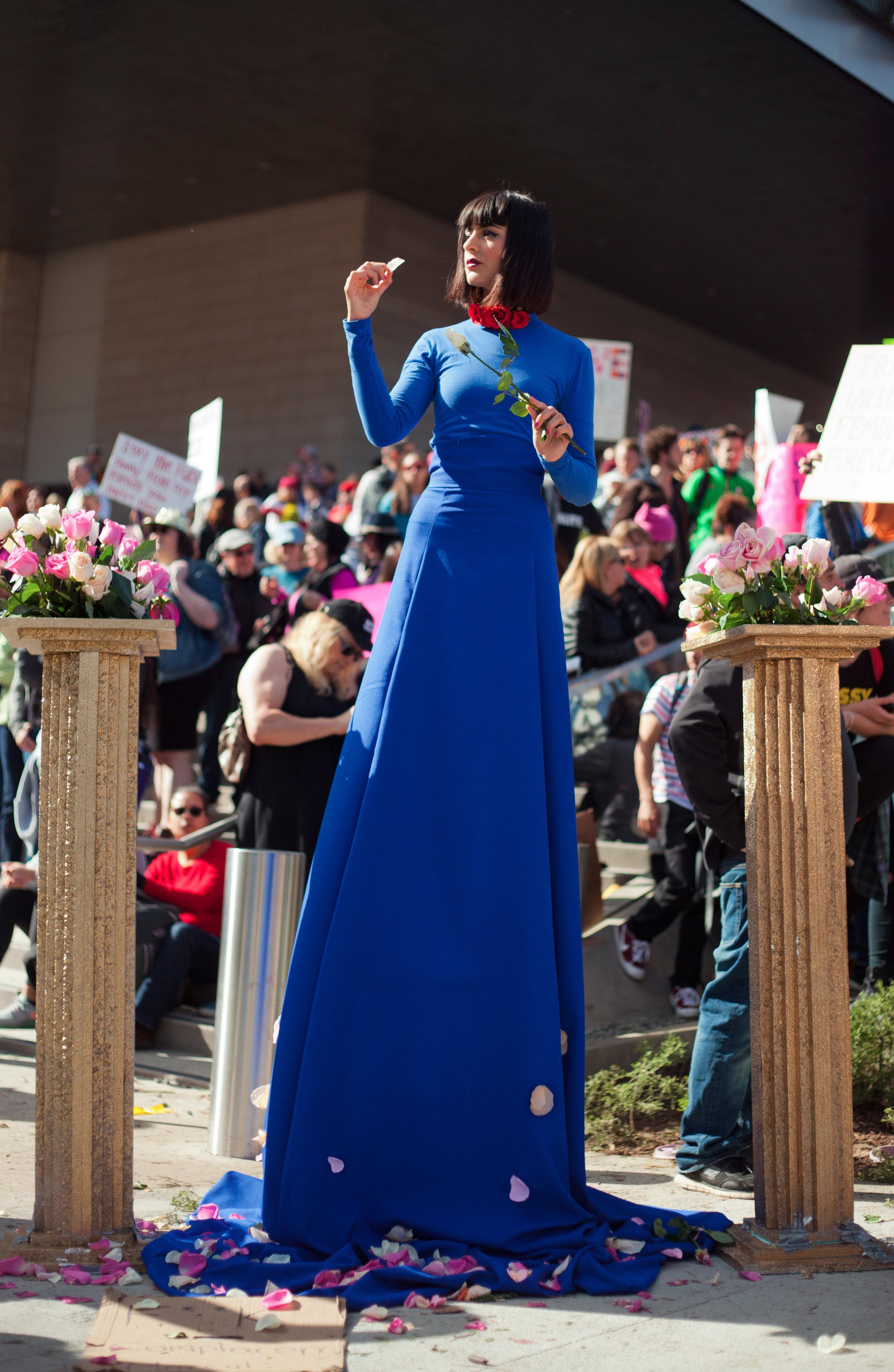 Cocovan - Women's March LA performance - credit Romain Yurkievich 3.jpg