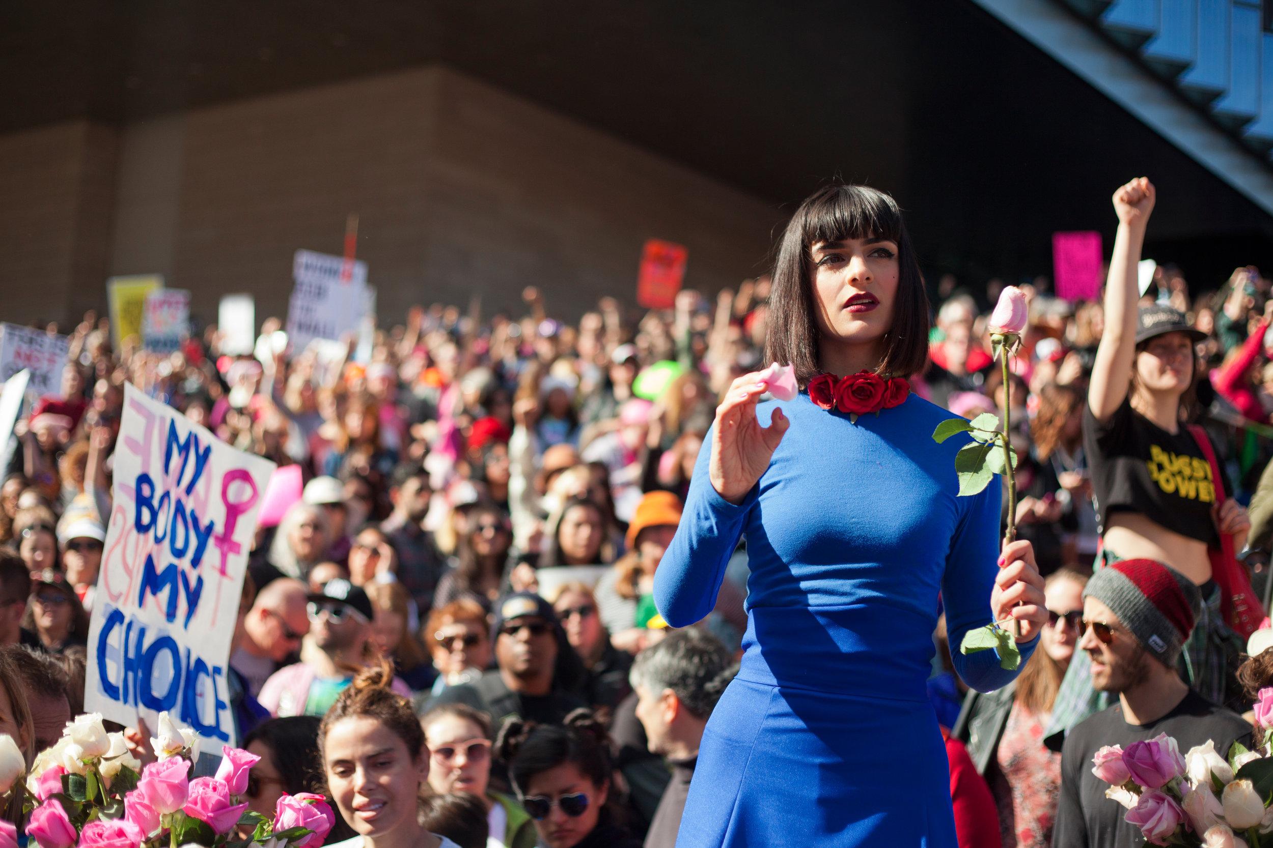 Cocovan - Women's March LA performance - credit Romain Yurkievich 2.jpg
