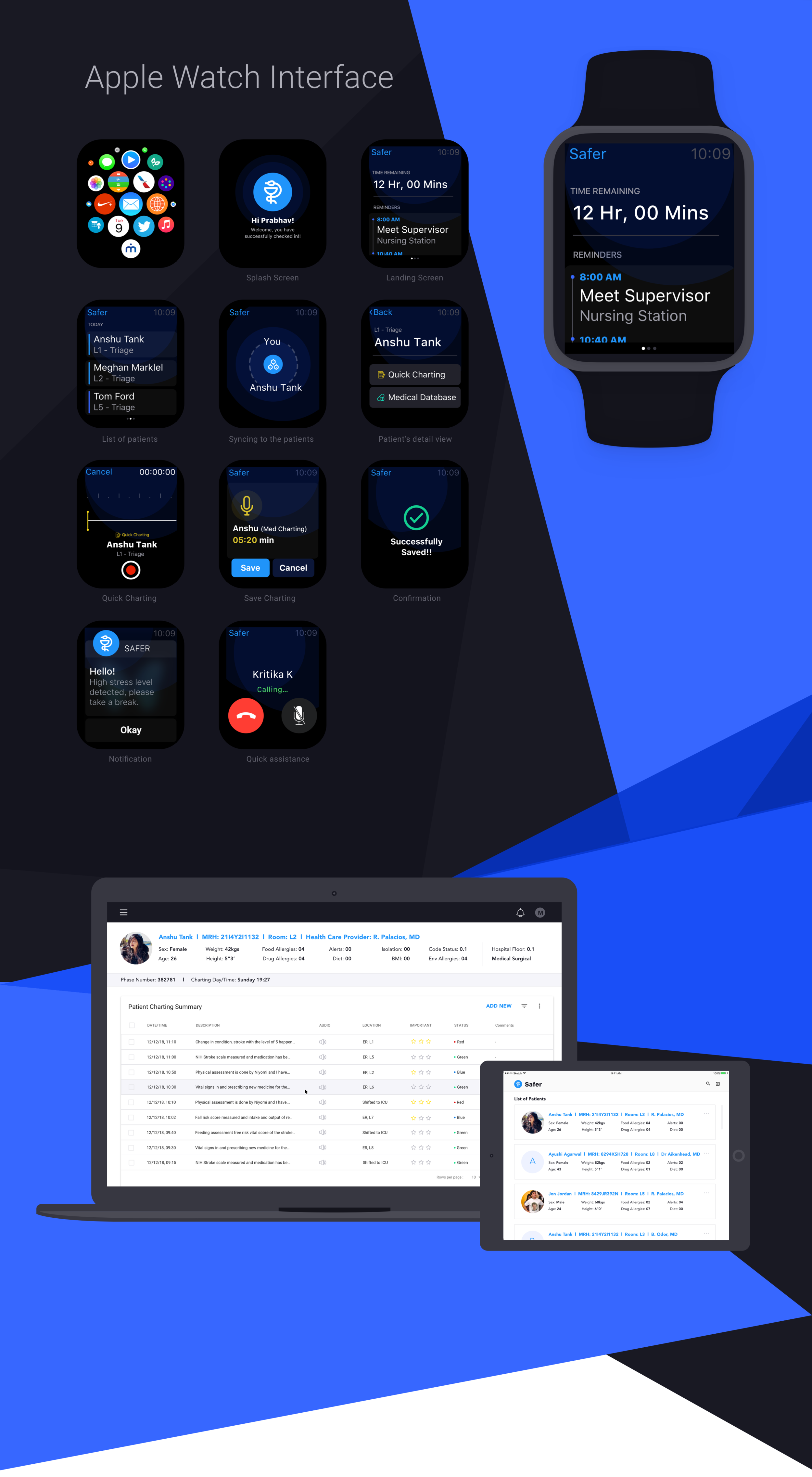 Click here for working prototype  (Apple Watch)   Click here  for working prototype  (iPad)