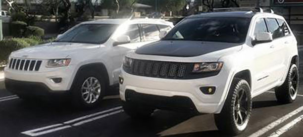 Yes, thats the same vehicle left & right.  Both 2015 Grand Cherokee 4x4