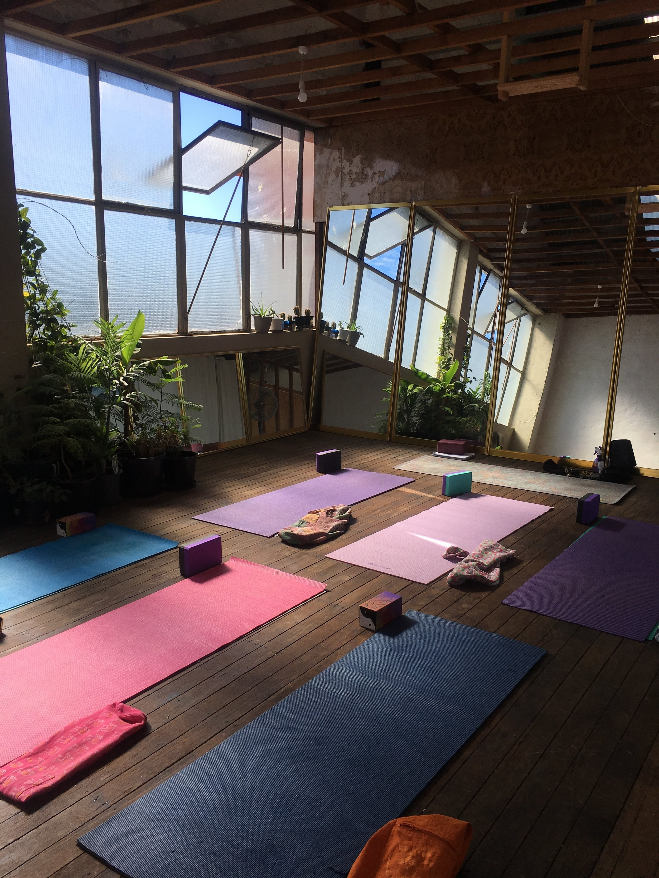The Nauti Sun Room, all set up for Yoga and relaxation.