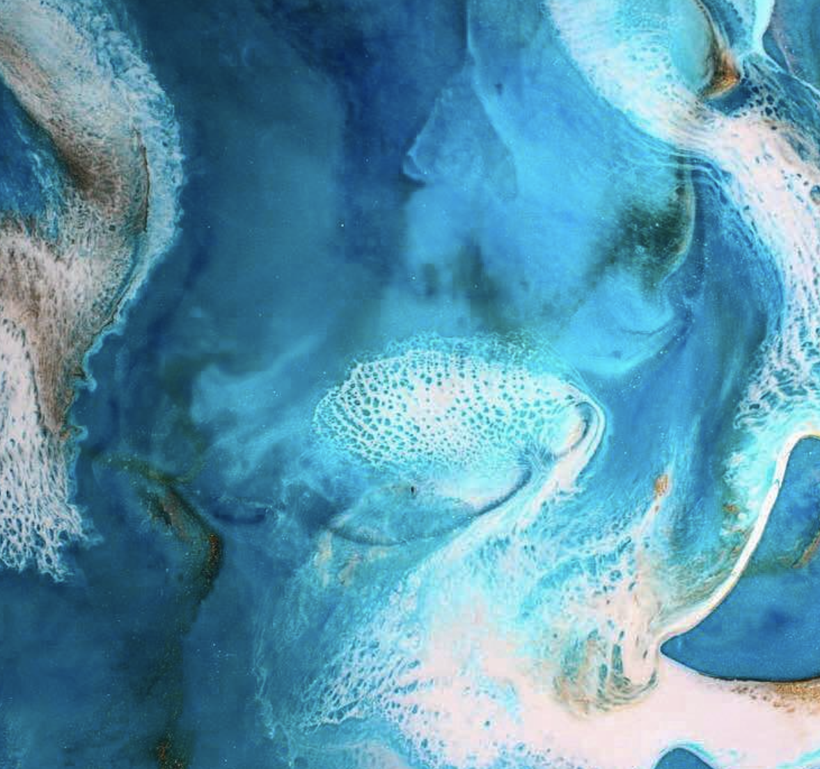 Up close and personal with one of Gina's incredible ocean inspired resin artworks.