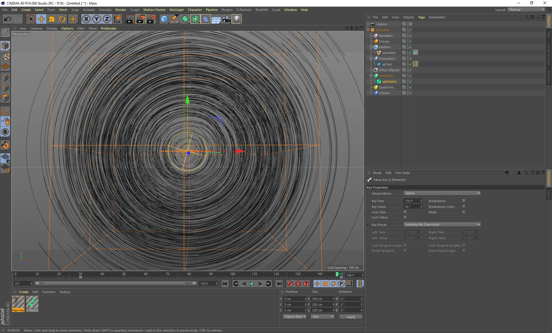 Creating star trails with X-Particles in Cinema 4D