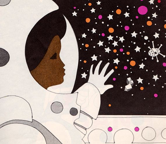 image from  Blast Off  by Linda C.Cain and Susan Rosenbaum, illustrated by Leo and Diane Dillon.