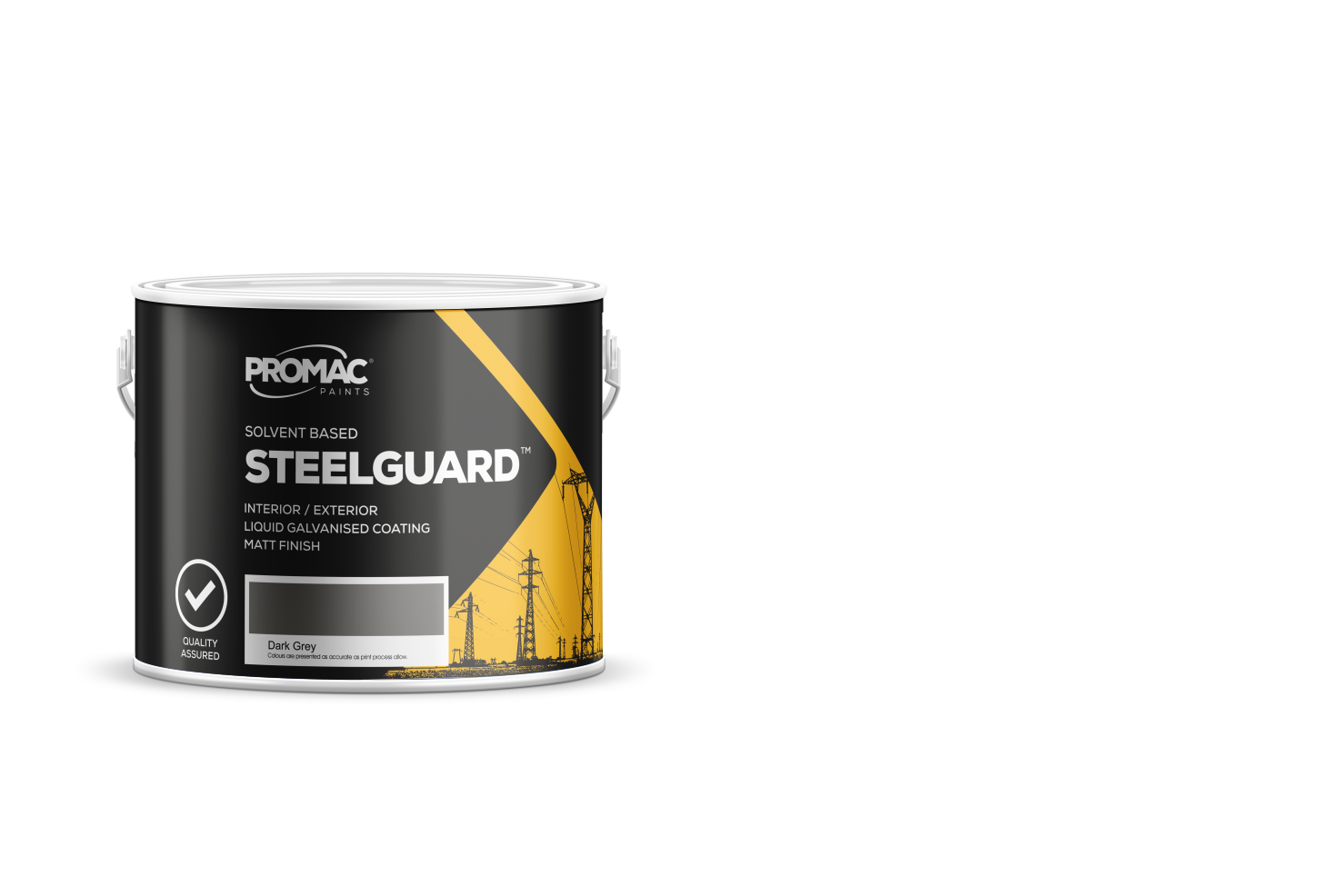 STEELGUARD - SOLVENT BASEDPromac Steelguard™ liquid galvanised coating is a single pack matt zinc rich primer and / or final coat which gives outstanding corrosion resistance due to cathodic protection.