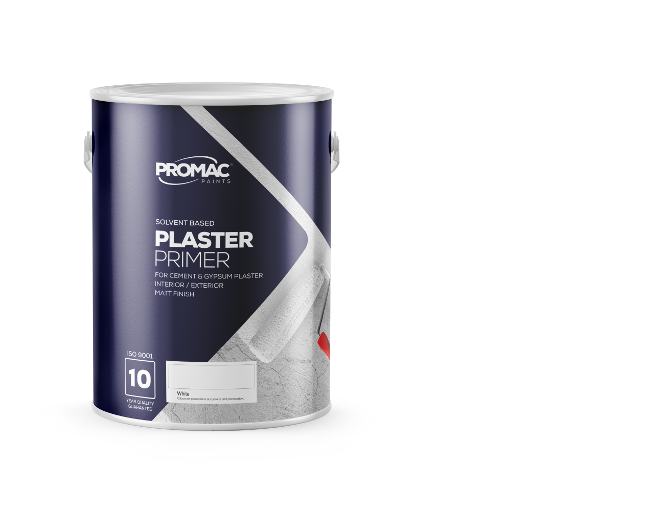 PLASTERPRIMER - SOLVENT BASEDPromac Plaster Primer is a new generation solvent based, alkali resistant plaster primer which has excellent adhesion, binding power and water / weather resistance for interior / exterior areas. It is meant for application to both uncoated new work and weathered / previously painted areas.