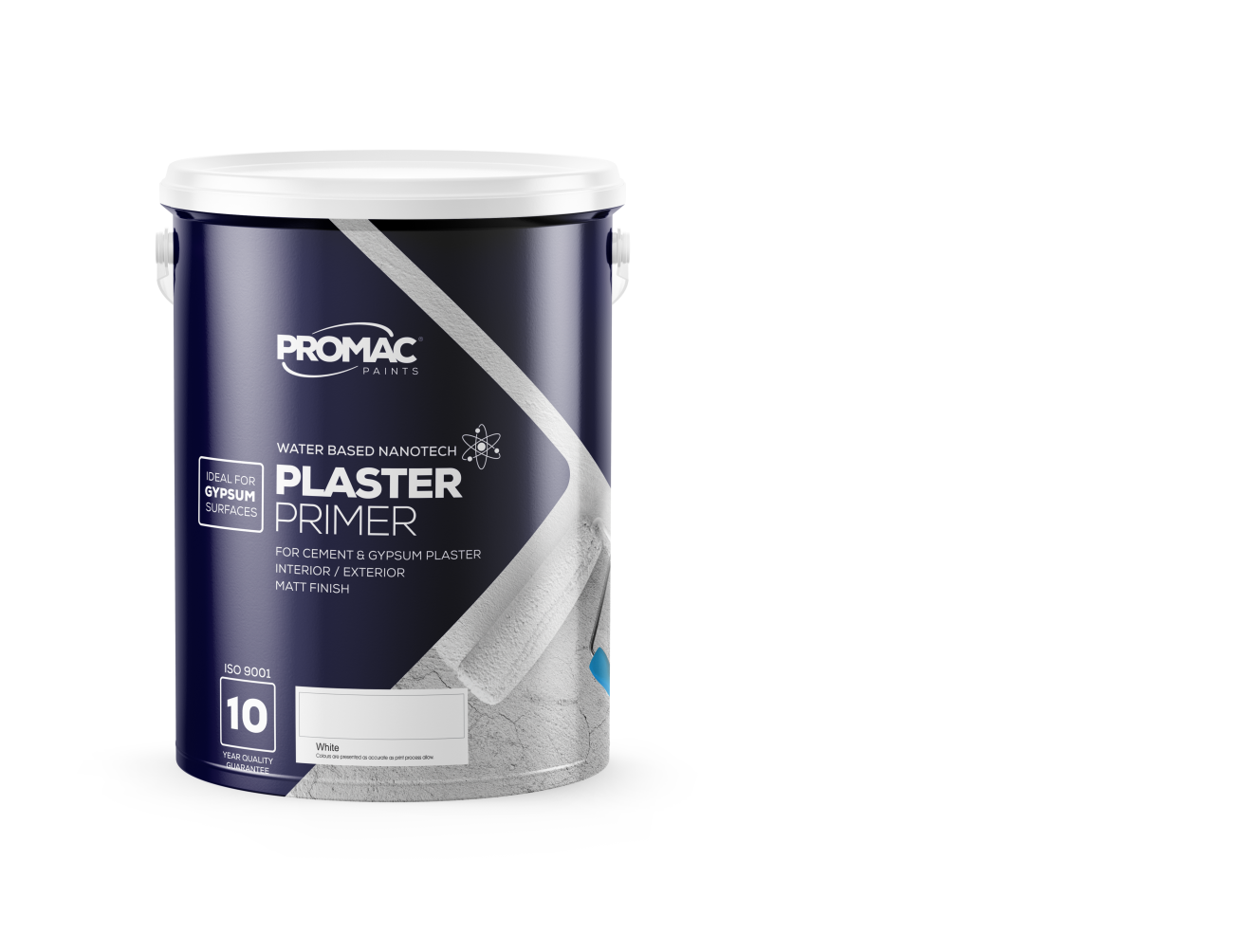 PLASTERpRIMER - WATER BASED NANOTECHPromac Plaster Primer Nanotech is a water based plaster primer which penetrates the surface and ensures optimum adhesion of top coats to the surface, while providing protection against alkali and efflorescence.