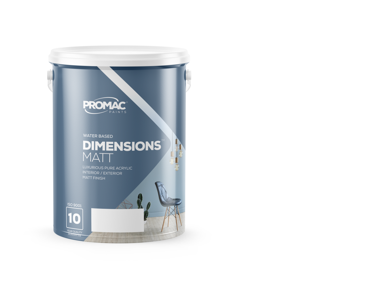 DIMENSIONSMATT - WATER BASEDPromac Dimensions™ Matt is a water-based, pure acrylic, with a high-quality matt finish and excellent washability making it suitable for high traffic interior and exterior areas. It has excellent adhesive properties and is stain and water resistant.