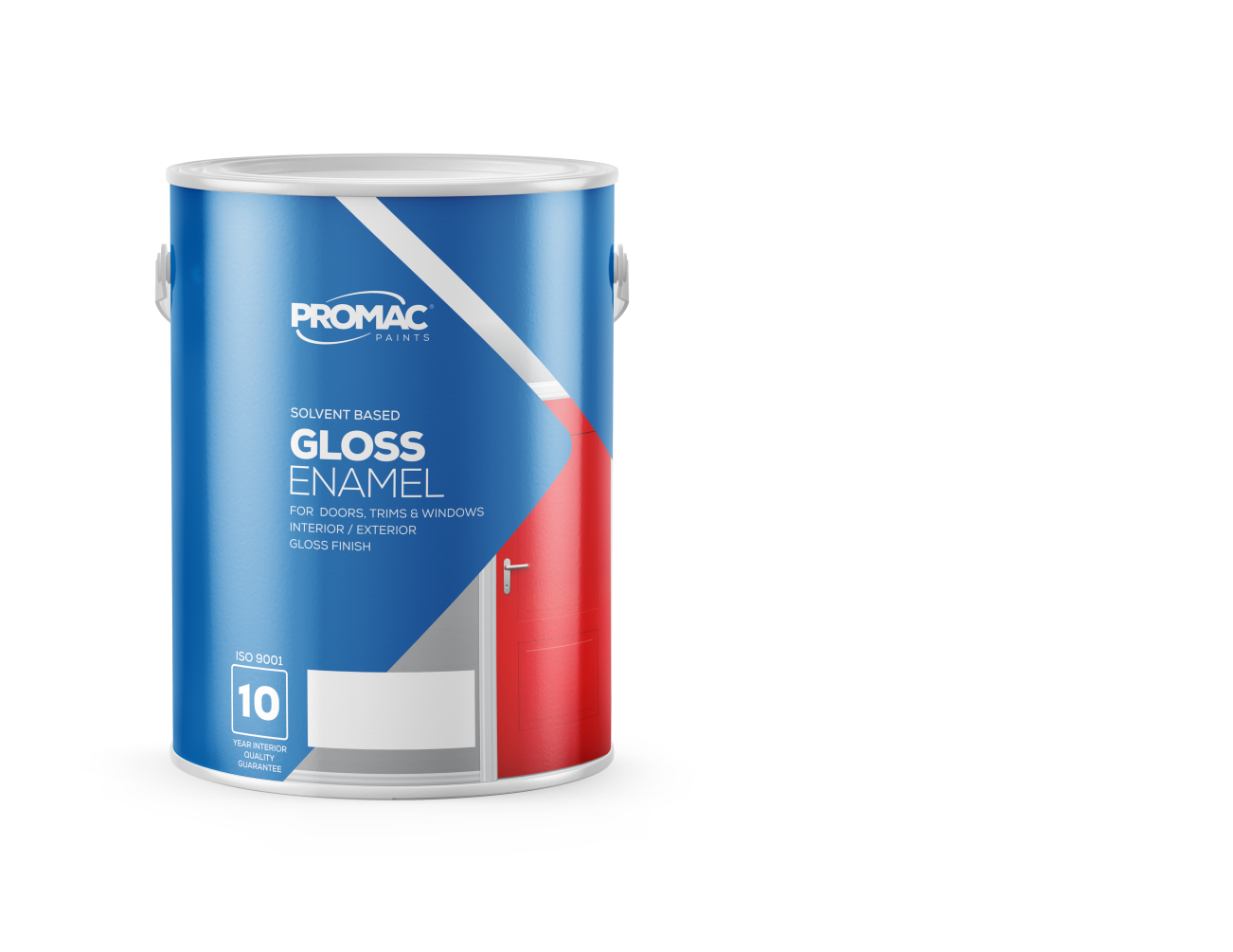 GLOSSENAMEL - SOLVENT BASEDPromac Gloss Enamel is a high quality enamel for interior or exterior surfaces where a glossy, durable finish is required. It provides excellent adhesion and protection of primed or previously painted wood, metal or plaster surfaces such as trims, doors, frames, skirtings and high traffic areas.