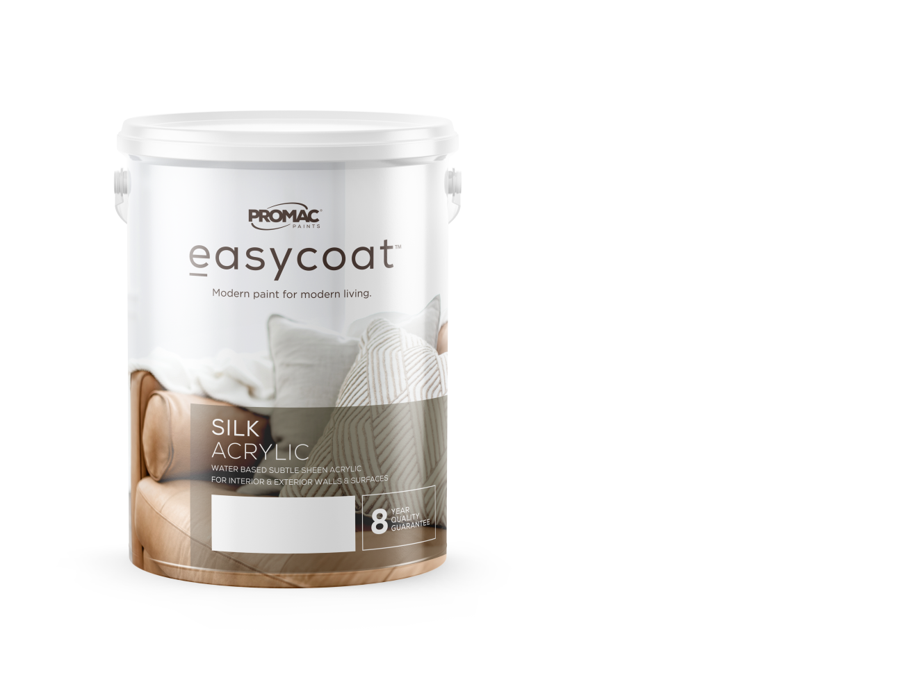 silk acrylic - WATER BASEDPromac Easycoat Silk is an acrylic wall coating, which has been specially formulated to decorate and protect interior and exterior surfaces.