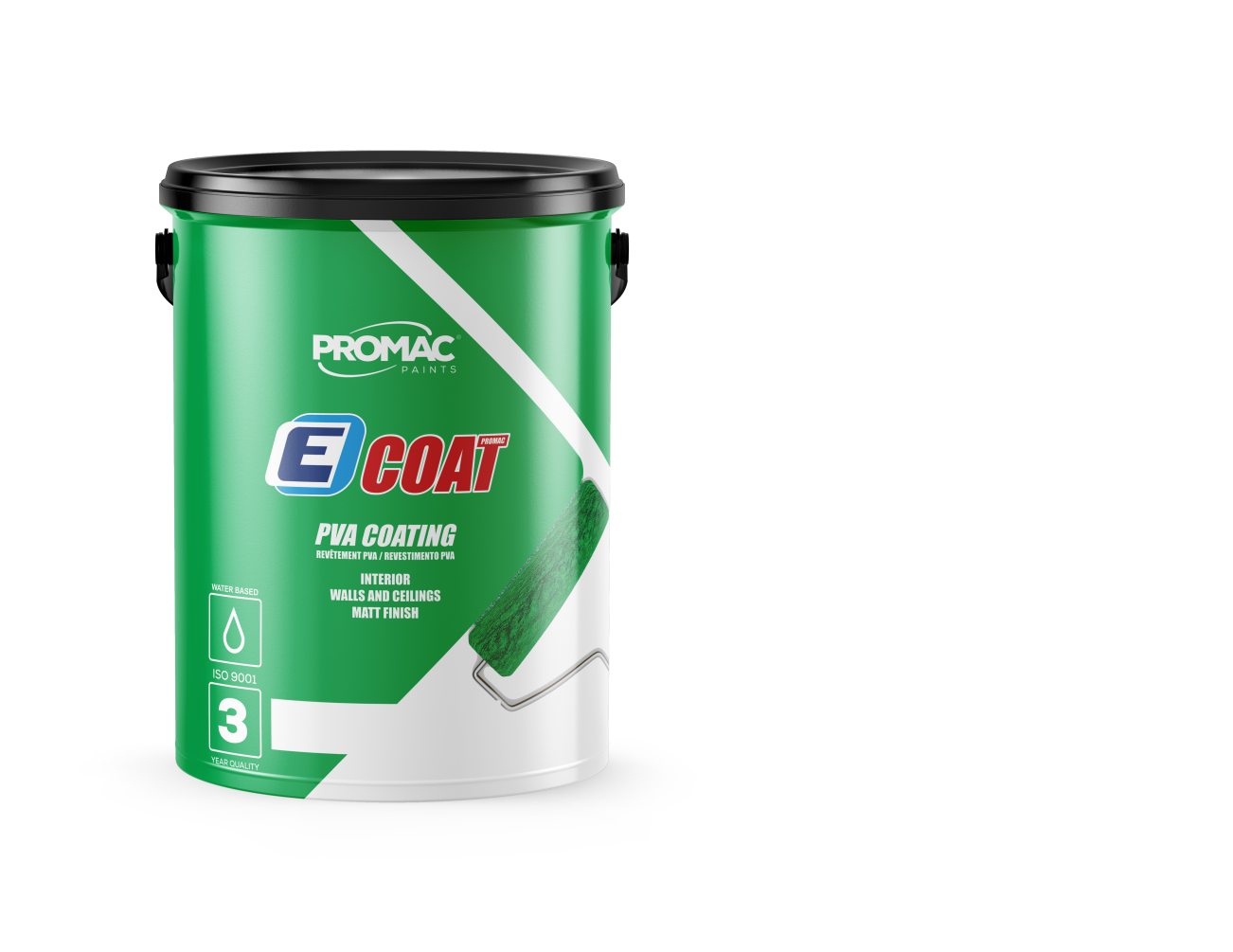 PVA COATING - WATER BASED Promac Ecoat PVA is a decorative acrylic paint for interior use. May be used as a filler coating under medium quality acrylic paints on interior walls and ceilings over suitably prepared surfaces.