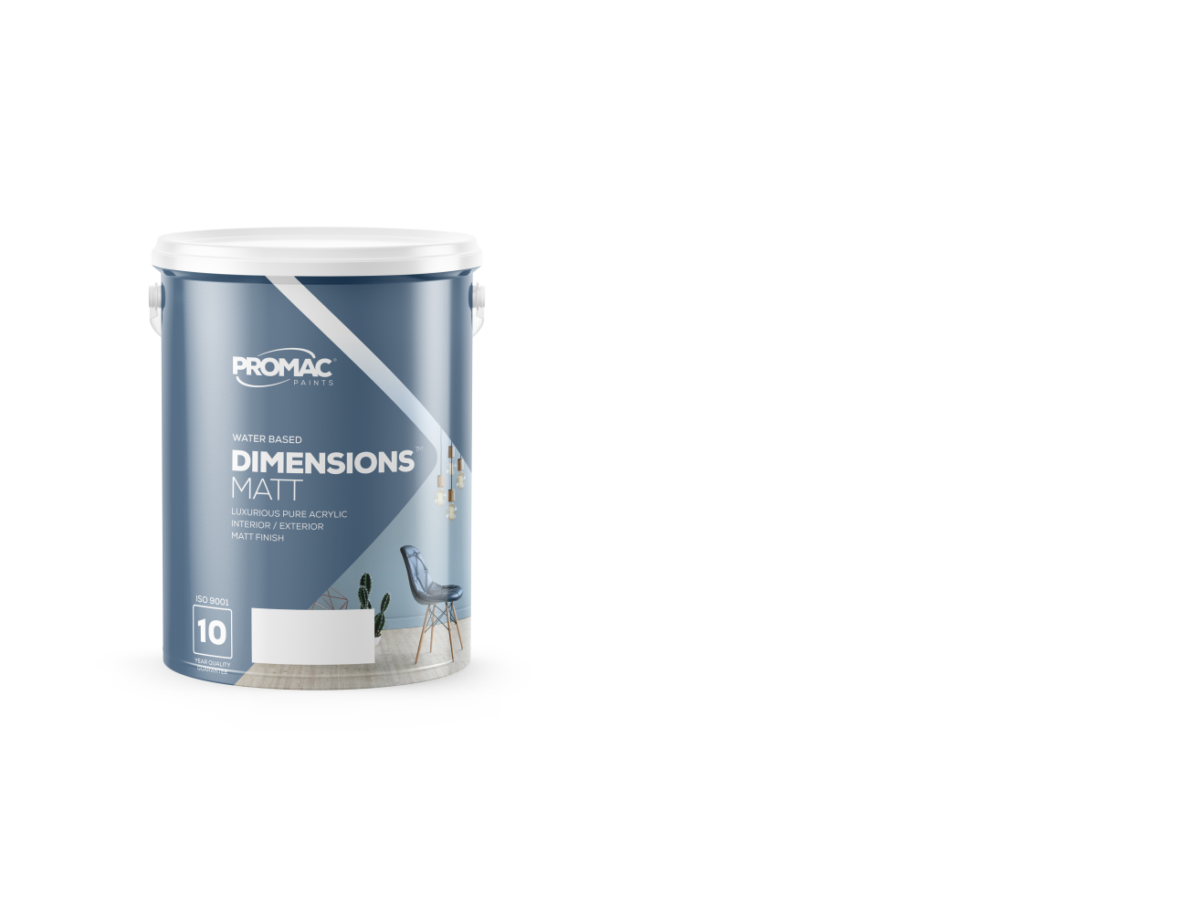 DIMENSIONSMATT - WATER BASEDPromac Dimensions™ Matt is a water-based, pure acrylic, with a high-quality matt finish and excellent washability making it suitable for high traffic interior and exterior areas. It has excellent adhesive properties and is mould, stain and water resistant.