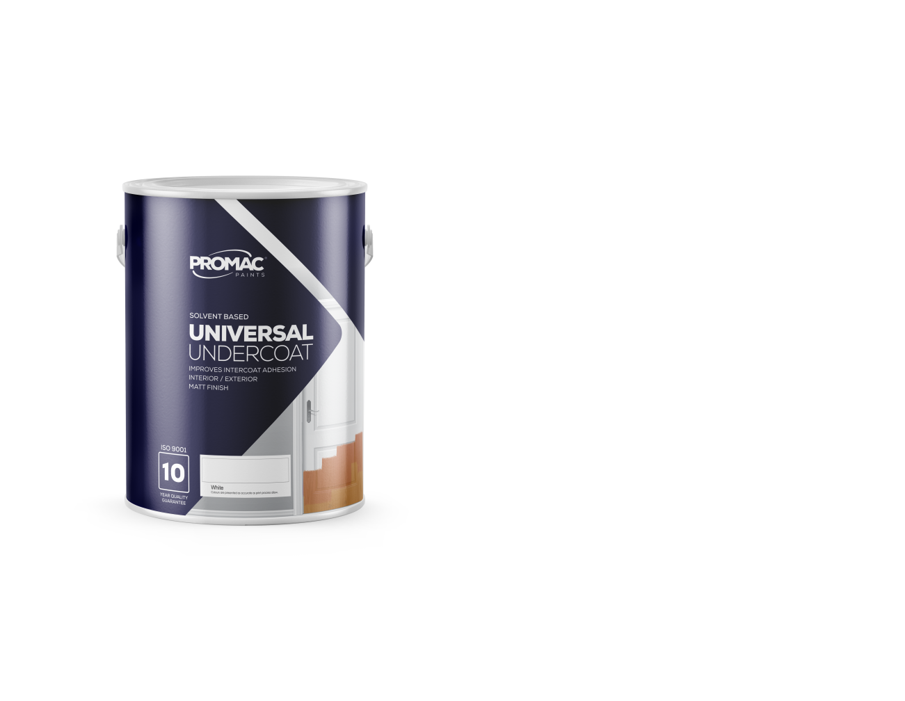 UNIVERSAL UNDERCOAT - SOLVENT BASEDPromac Universal Undercoat is an alkyd-solvent based high quality pigmented matt undercoat which has excellent adhesion, flow and ease of sanding for interior / exterior areas. It is meant for application to both primed new work and sound previously painted areas.
