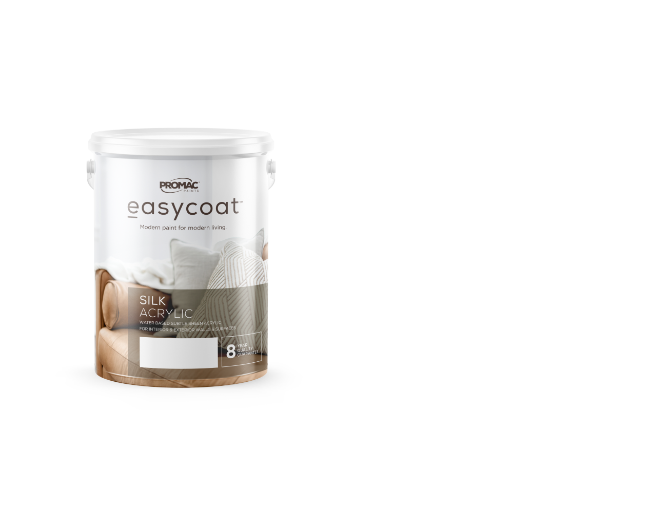 SILKACRYLIC - WATER BASEDPromac Easycoat Silk is an acrylic wall coating, which has been specially formulated to decorate and protect interior and exterior surfaces.