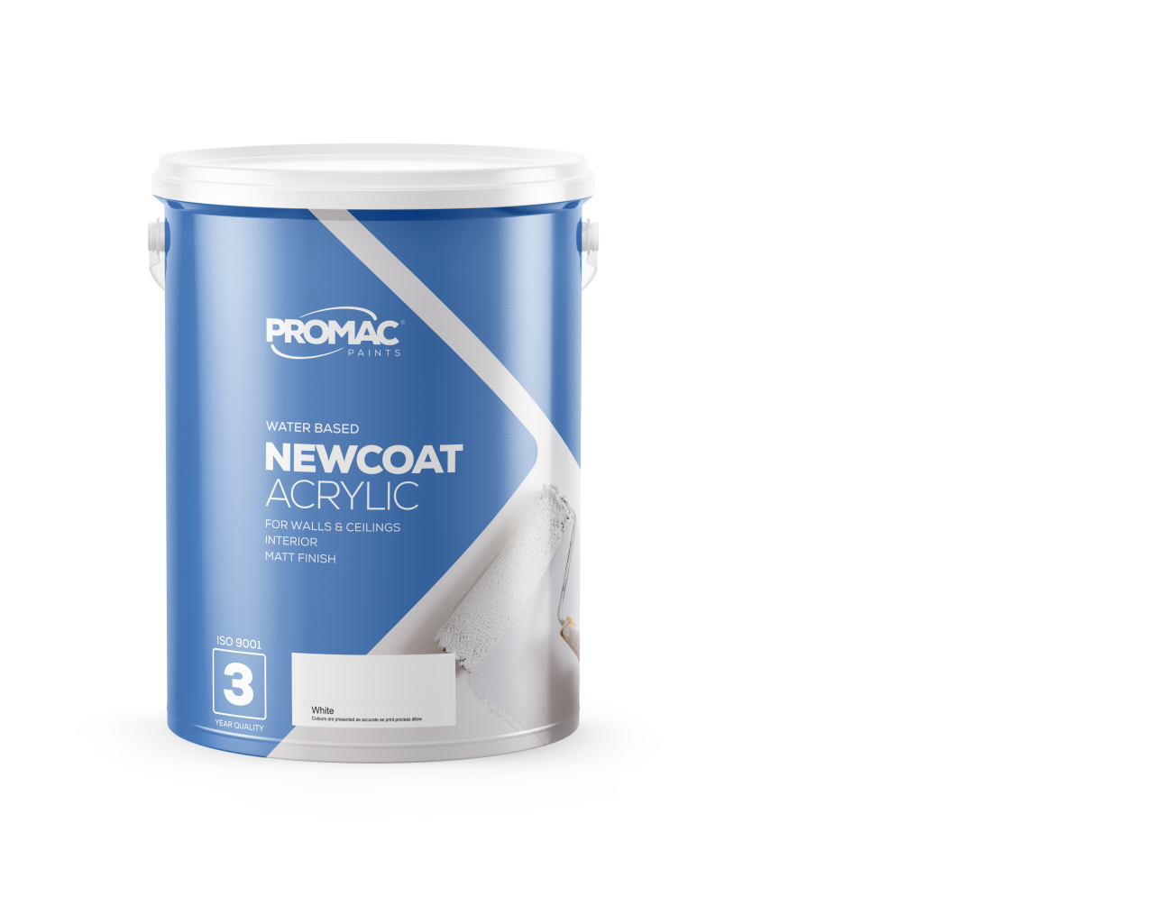 nEWCOATACRYLIC - WATER BASEDPromac New Coat Acrylic is a quality decorative acrylic paint for interior use with excellent hiding power. May be used as a filler coating under medium quality acrylic paints on interior walls and ceilings over suitably prepared surfaces.