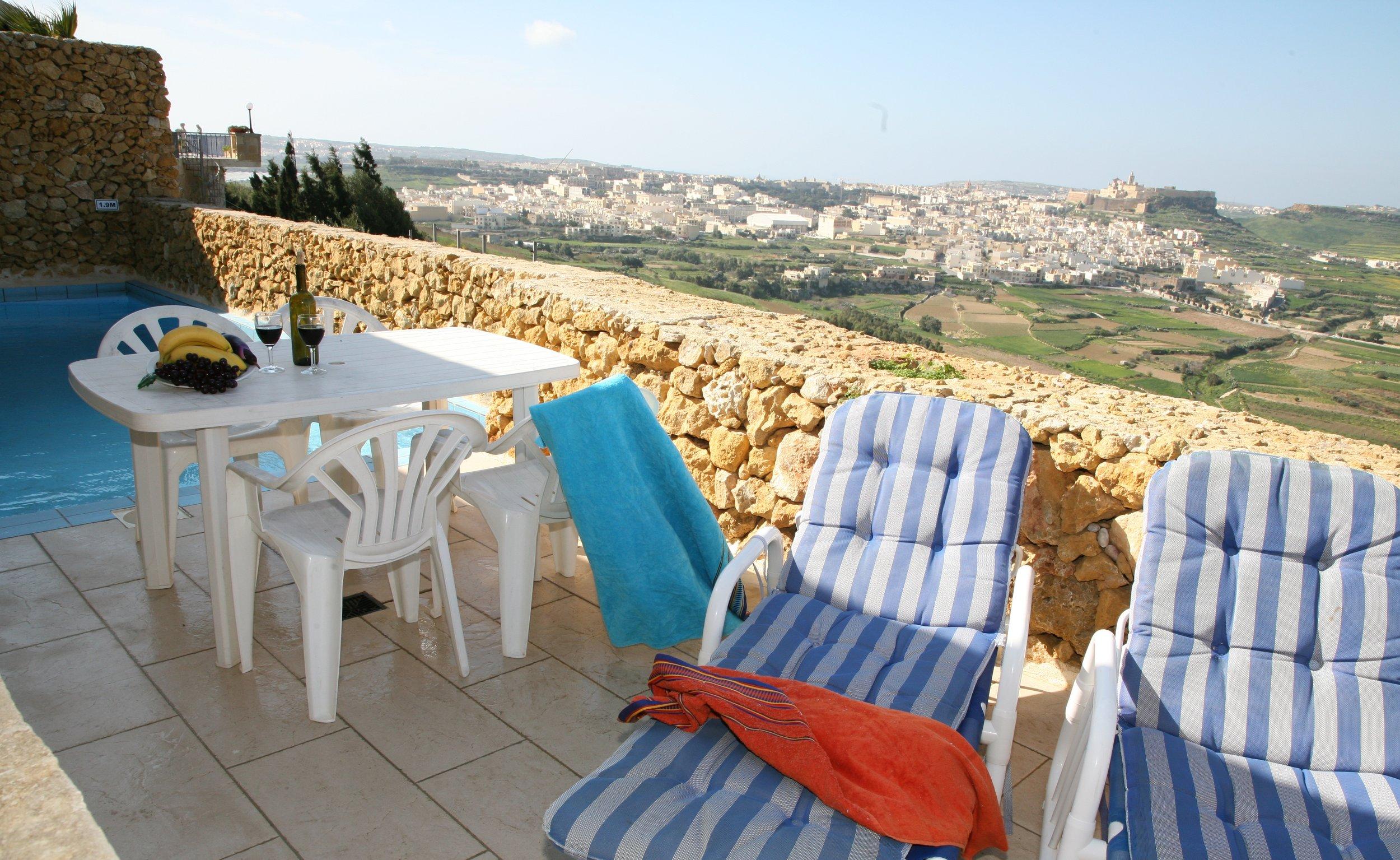 Terrace facing stunning views