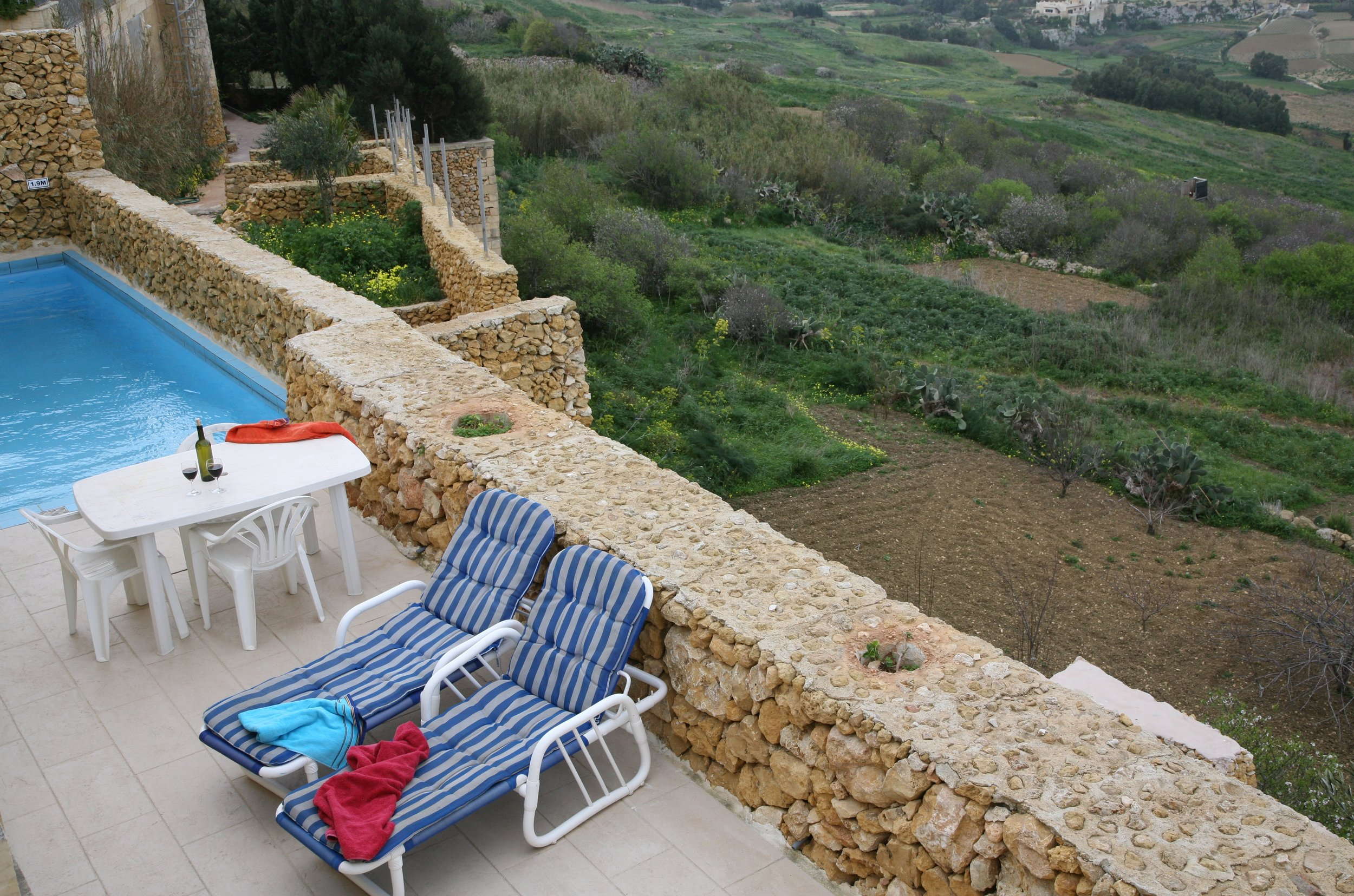 Private terrace with views