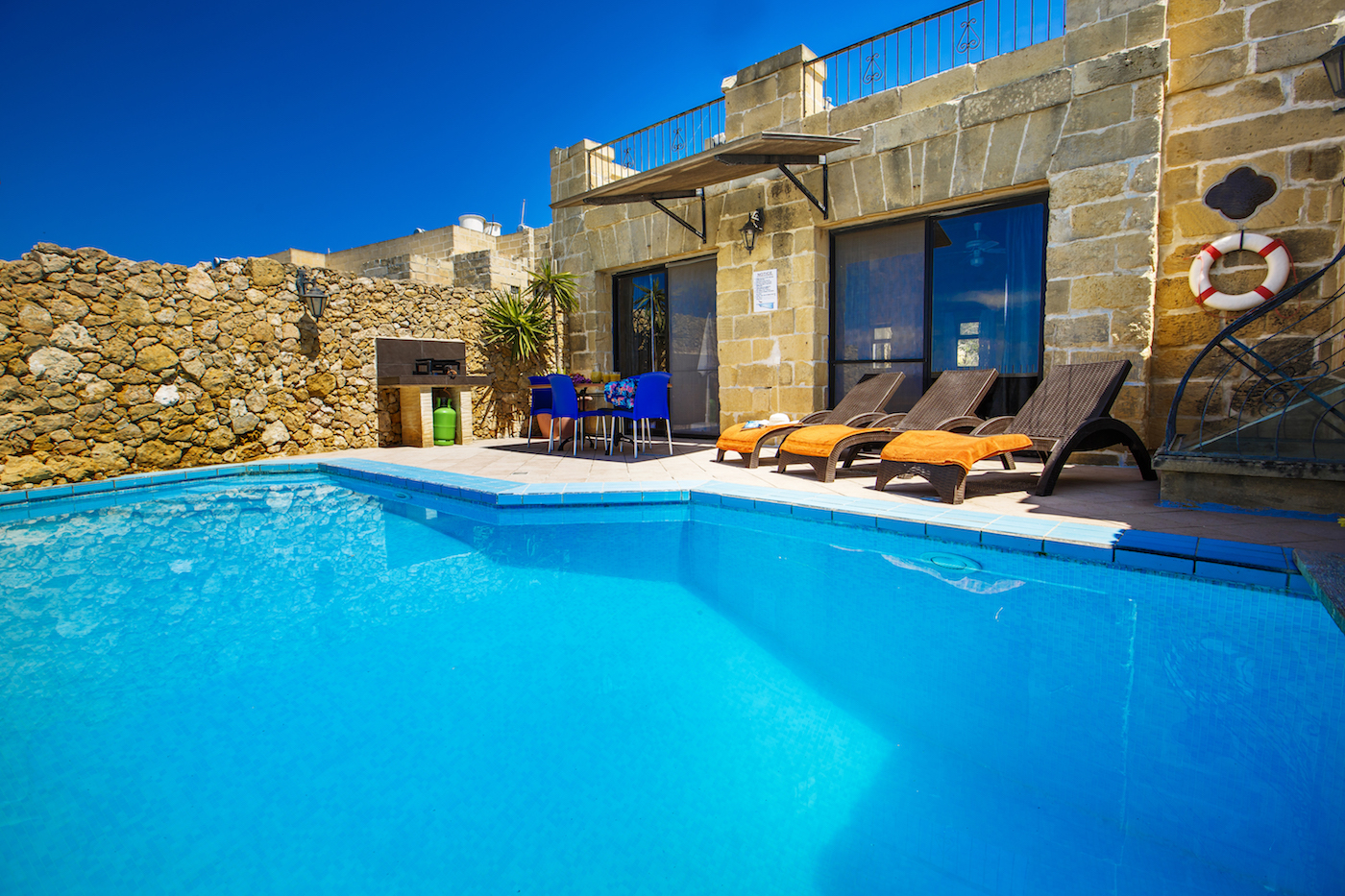 The private pool terrace