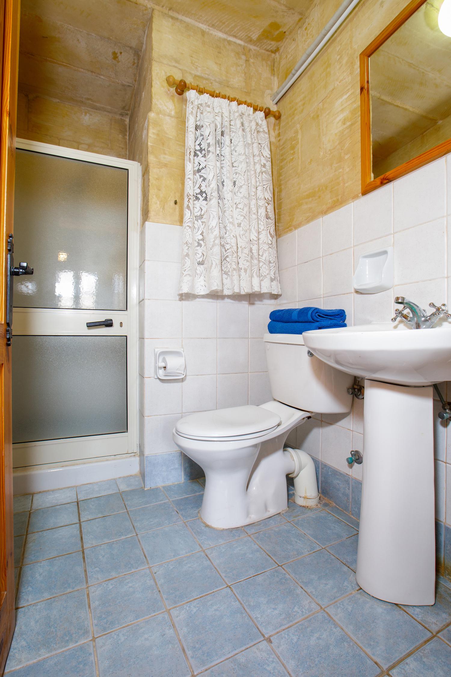 The ensuite bathroom + shower
