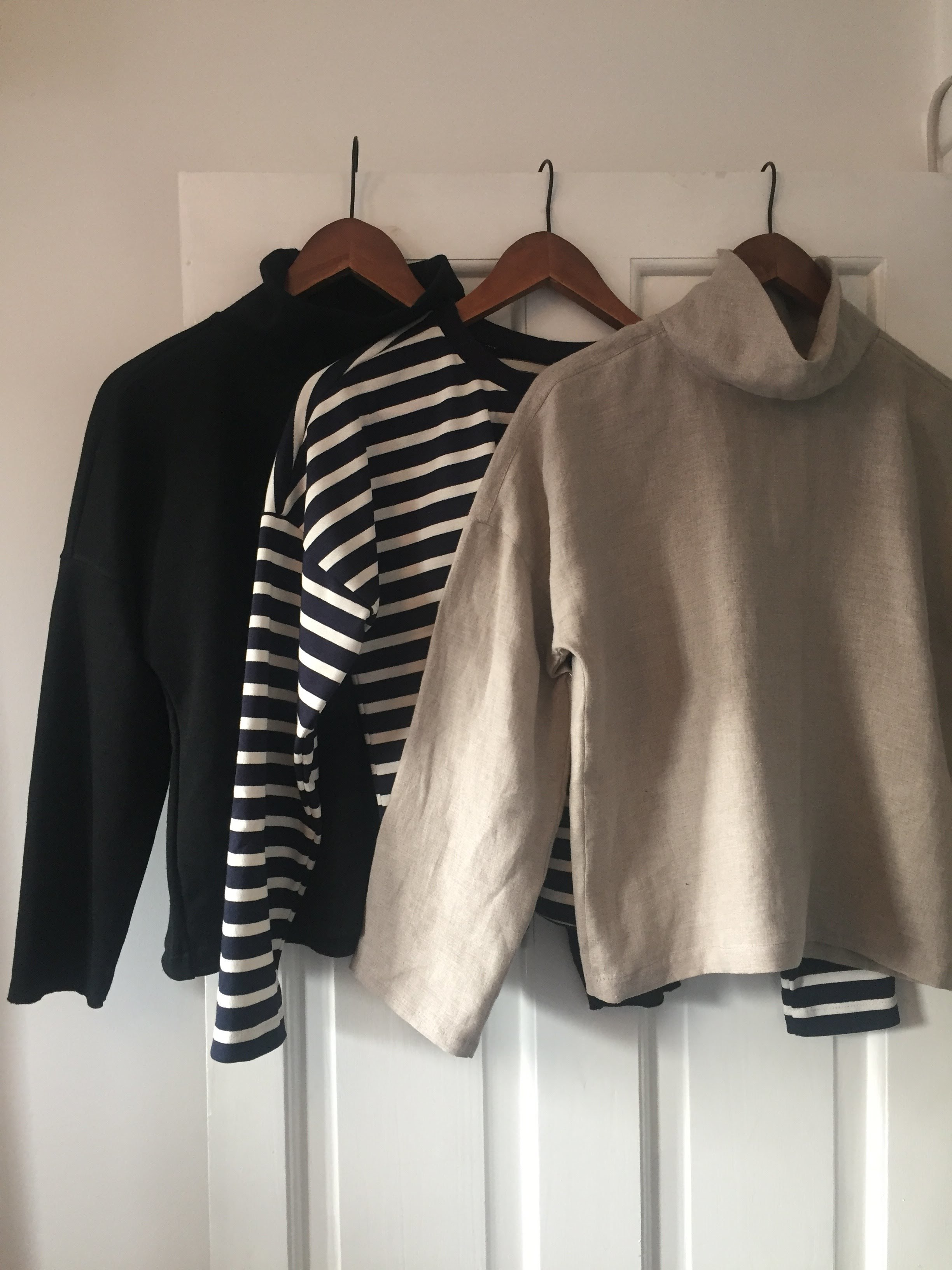 LB pullovers in three versions.