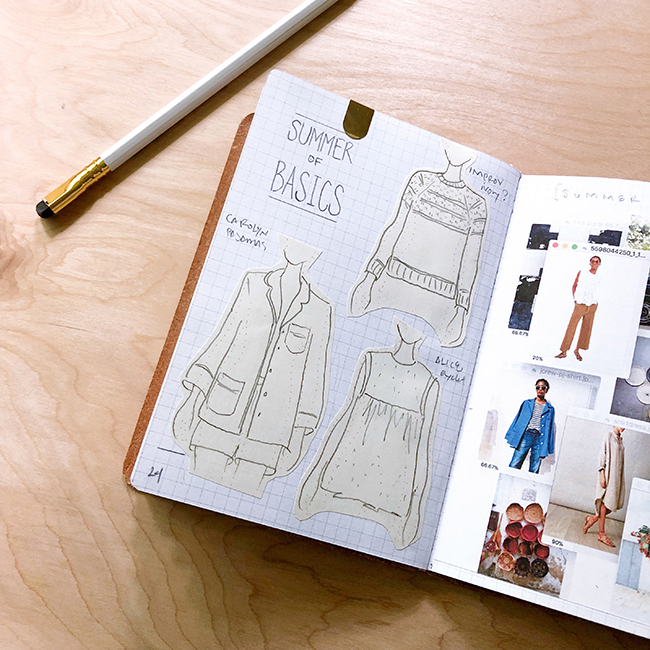 A notebook like Karen's can be invaluable if you're wanting to document, and plan, your wardrobe.