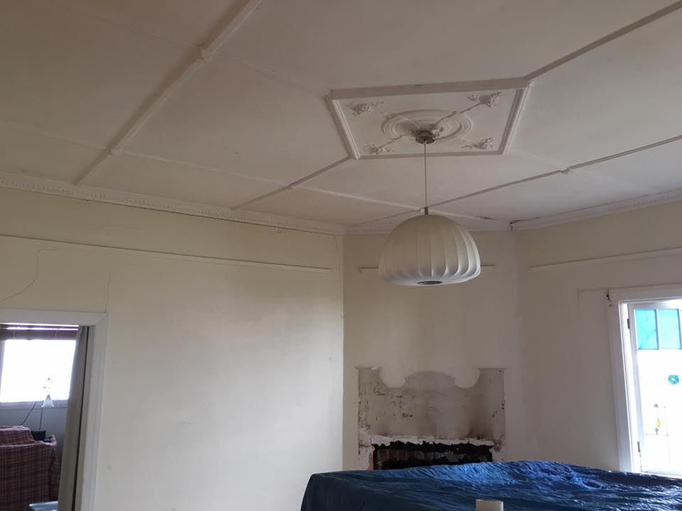 Ceiling & Room Before Painting