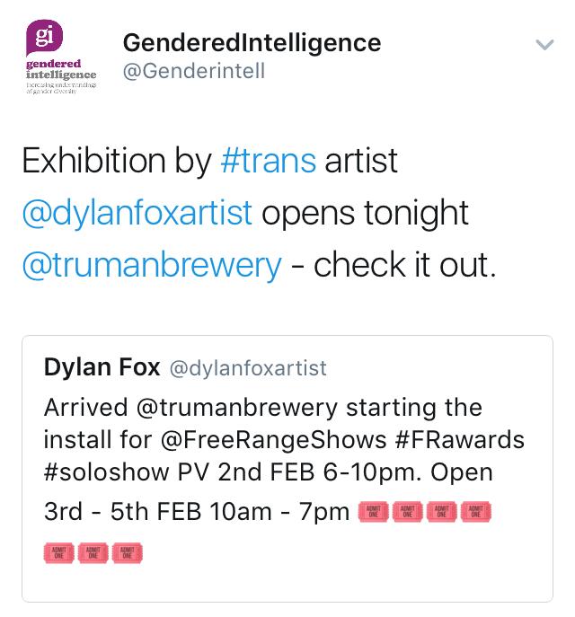 dylanfoxartist dylan fox transgender artist gendered intelligence