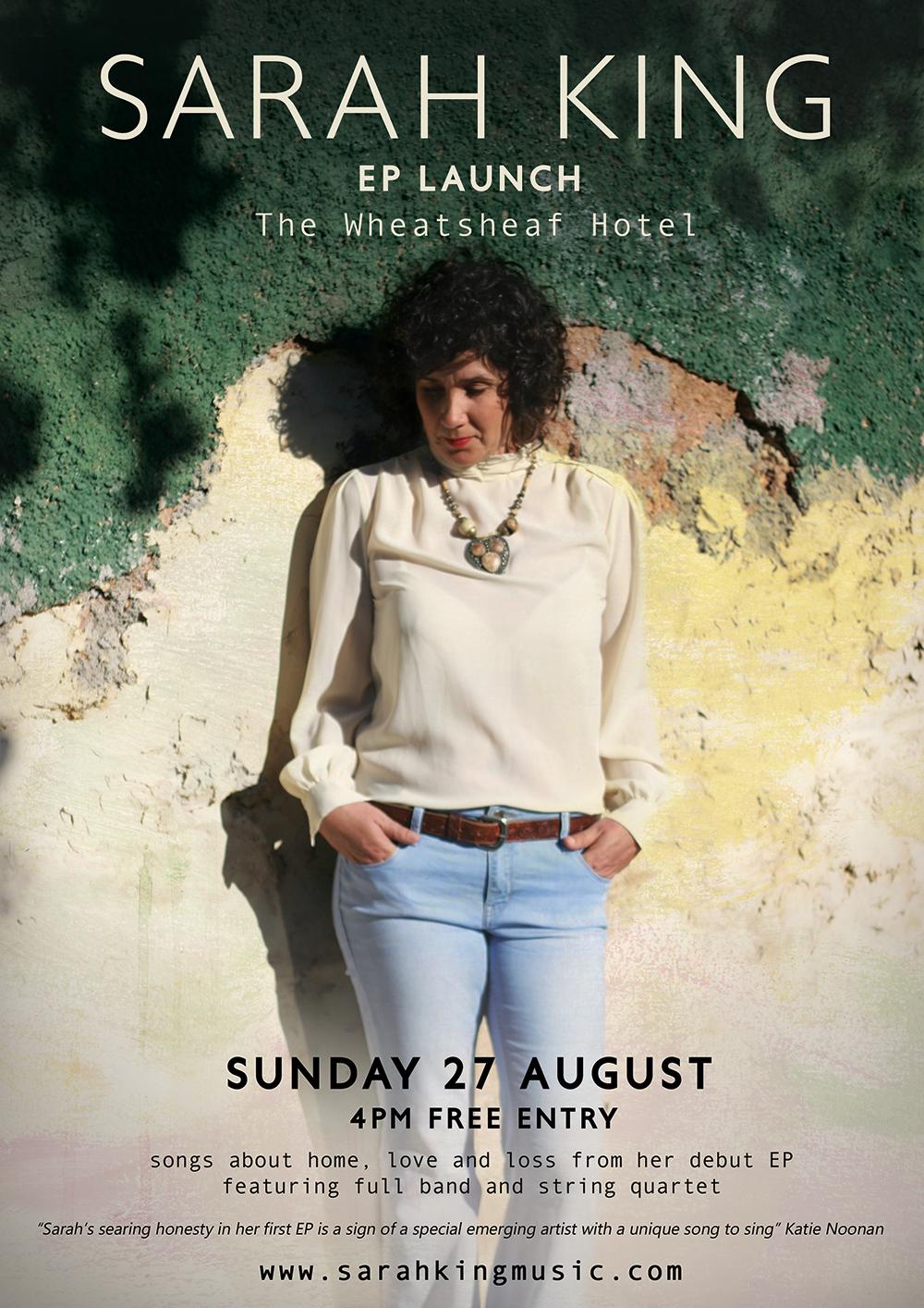 Sarah King EP Launch Poster