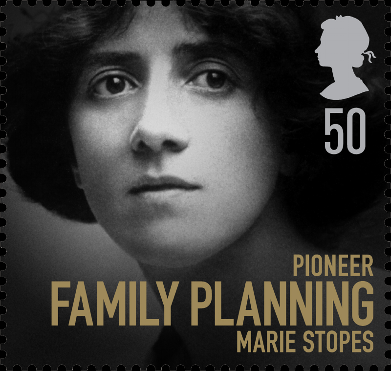 """The Royal Mail came under high-level criticism in 2008 for featuring Stopes on this special edition postage stamp, part of a collection celebrating """"women of achievement""""."""