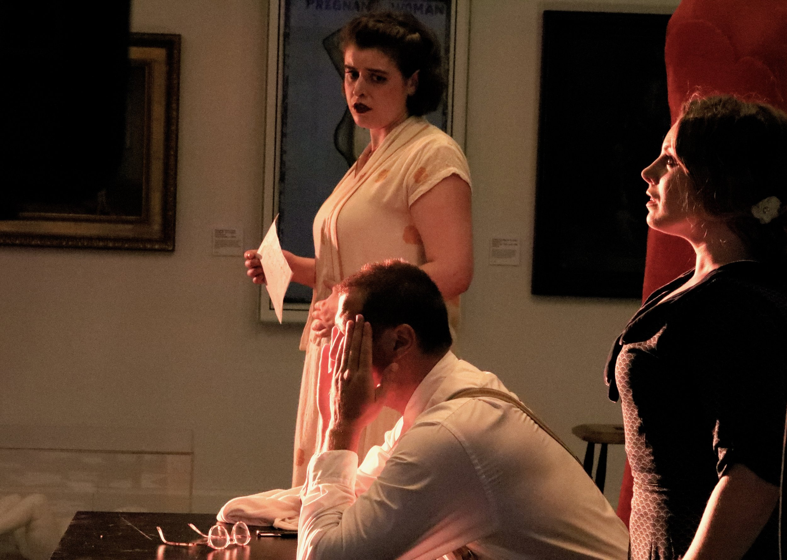 Jess Dandy, Feargal Mostyn-Williams and Alexa Mason in 'Dear Marie Stopes', by Claire Shovelton