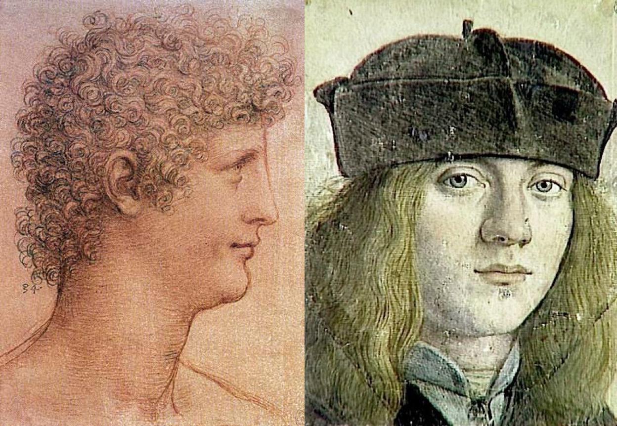 Left: Salai, Right: Francesco Melzi