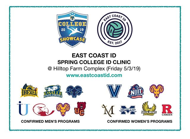 SPRING ECID COLLEGE ID CLINIC ANNOUNCED FOR BOYS & GIRLS on 5/3/19 in Limerick, PA, hosted at the @westmontusa College Showcase.  For info and Reg Visit: www.eastcoastid.com #EastCoastCommitted @westmontusa