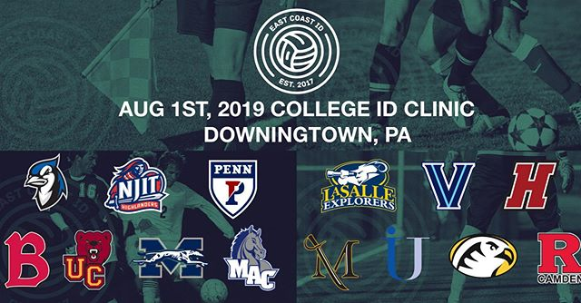 More college coaches/programs have registered for our 8/1/19 PA Summer College ID clinic for boys and girls. For Reg & Info visit www.eastcoastid.com #EastCoastCommitted