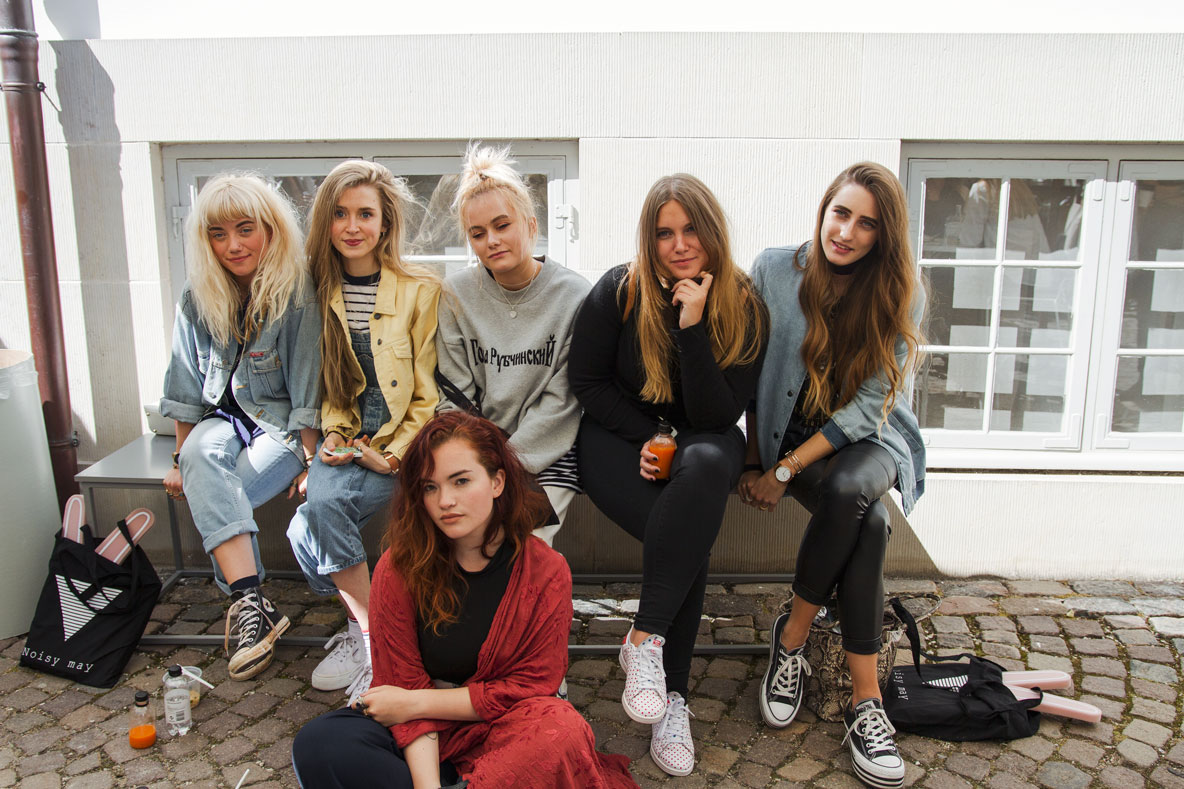 Me + the other lovely ladies designing their own capsule collections too on our lunch break!