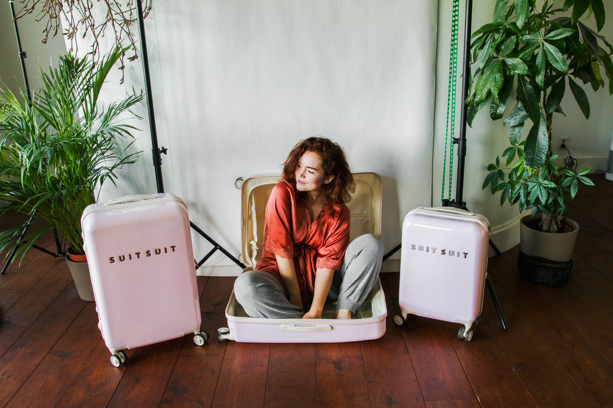 At home - yes, I fit in a suitcase, I'm that small, and this suitcase is  that  big. Amsterdam, Netherlands