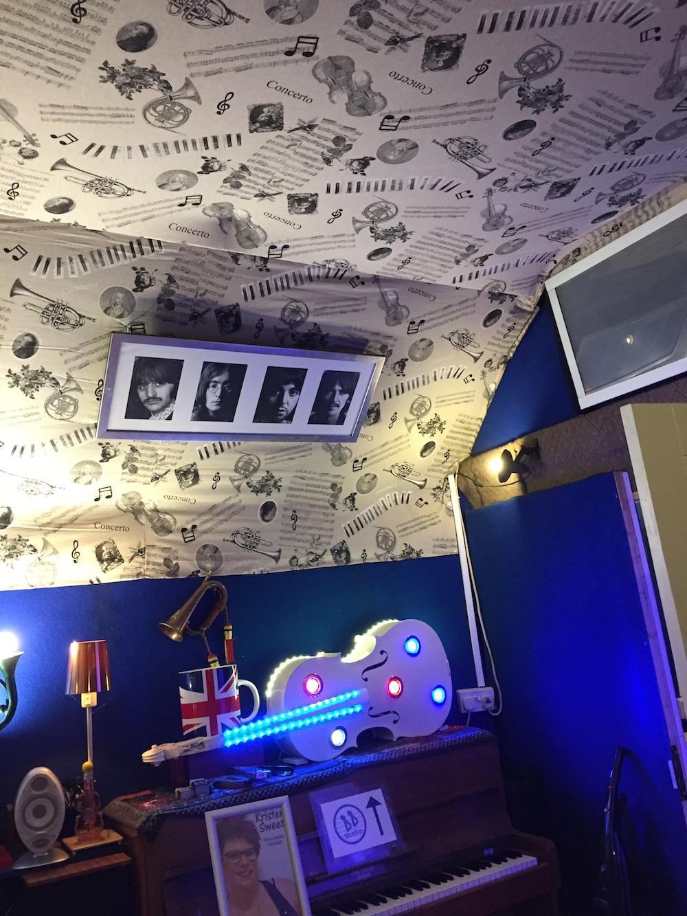 Pop Star Party entrance ceiling refit