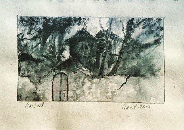 Ink sketch from a recent trip. #sketch #sketchbook #inkdrawing #carmel